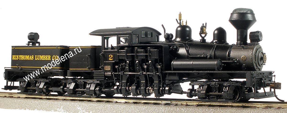 80 ton three truck shay locomotive